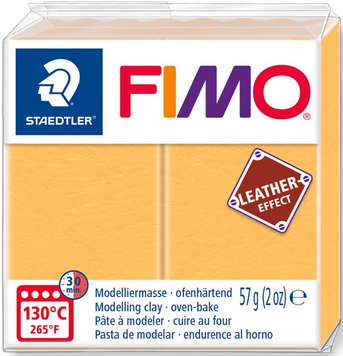 FIMO leather-effect safrangelb
