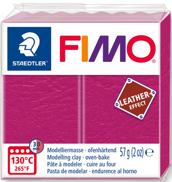 FIMO leather-effect beere
