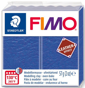 FIMO leather-effect indigo