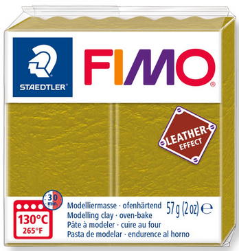 FIMO leather-effect olive