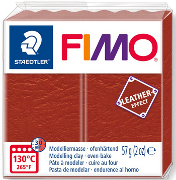 FIMO leather-effect rost