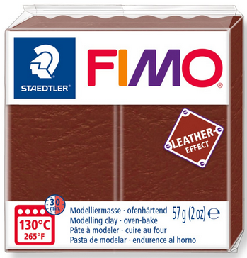 FIMO leather-effect nuss