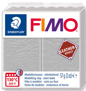 FIMO leather-effect taubengrau