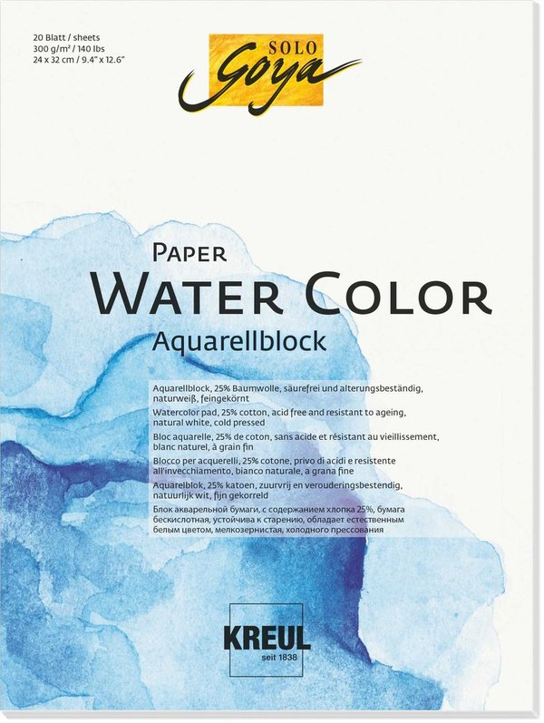 SOLO Goya Paper Water Color 300g/m²